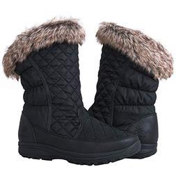 GLOBALWIN Women's 1825 Black Snow Boots 8.5M
