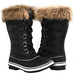 GLOBALWIN Women's 1837 Black Winter Snow Boots 9.5M