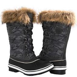 GLOBALWIN Women's 1837 Grey Winter Snow Boots 8.5M