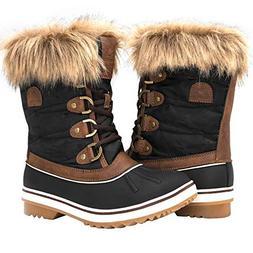 GLOBALWIN Women's 1838 Brown Winter Snow Boots 7.5M