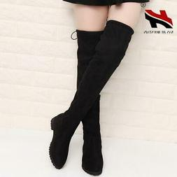 2017 Slim Boots Sexy Over The Knee High Suede Women Snow Boo