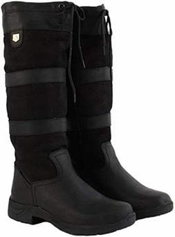Dublin 216672 Women's Black Leather River Tall Equestrian Sn