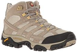 Merrell Women's Moab 2 Vent Mid Hiking Boot, Taupe, 7.5 W US