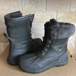 UGG Adirondack III Black Olive Waterproof Leather Snow Boots