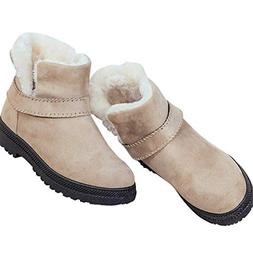 Susanny Womens Ankle Snow Boots Slip on Fur Warm Winter Boot