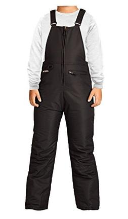 Arctix Youth Insulated Overalls Bib, X-Small, Black