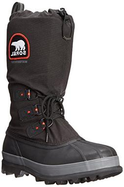 Sorel Men's Bear Extreme Snow Boot,Black/Red Quartz,12 M US