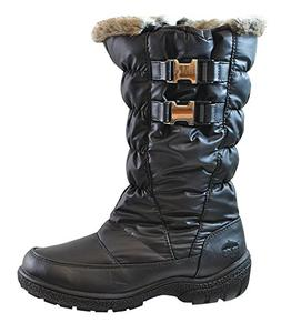 totes Womens Beatrix Snow Boot,Black,10M