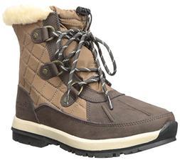 Bearpaw Women's Bethany Chocolate/Tan Ankle-High Leather Hik