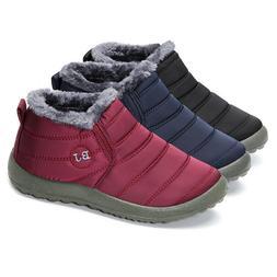 BJ New beautiful women shoes Warm Wool Lining Flat Ankle Sno