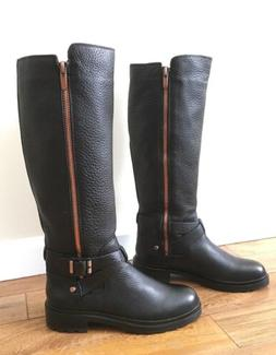 Calvin Klein Black Leather Boots Winter Snow New US Size 9 M