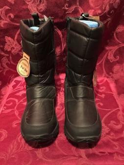 MAGELLAN OUTDOORS Black Puffer Snow Boots Unisex Fleece Lini