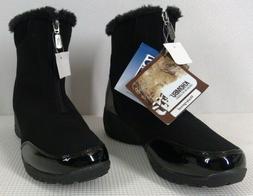 Khombu Black Waterproof Snow Boots Women's Size 10 Fur Lined