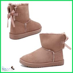 Booties Women's With Fur Boots Winter Warm Ankle Boots Hair