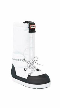 Hunters Boots Women's Original Snow Boots, White/Black, 6 B