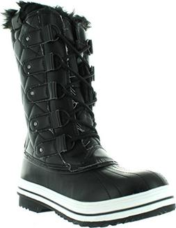 Nature Breeze Frost-03 Women's Lace Up Waterproof Quilted Mi