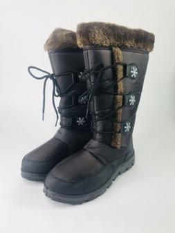 Mata C-29 Women's Snow Lace Zipper Faux Fur Lined Boots, B