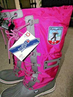 ~~PAJAR CANADA Women's Waterproof Pink Gray Debby Snow Boots