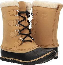 Sorel Women's Caribou Slim Boot Curry/Black 10.5 B US