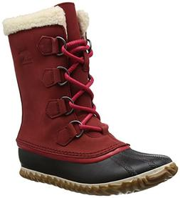 SOREL Women's Caribou Slim Snow Boot, Red Element, 7.5 M US