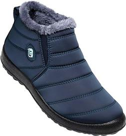 JOINFREE Mens Casual Winter Shoes Snow Boots Waterproof Plus