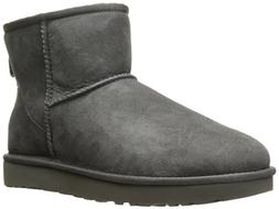 Ugg Women's Classic Mini II Leather Grey Ankle-High Suede Bo