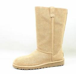 Women's Ugg Classic Perforated Boot, Size 5 M - Brown