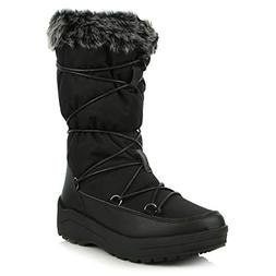 DailyShoes Women's Comfort Round Toe Mid Calf Lace Up Eskimo