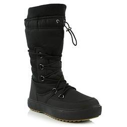 DailyShoes Women's Comfort Round Toe Mid Calf Fringe Lace Up