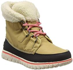 SOREL Women's Cozy Carnival Snow Boot Curry/Black 5.5 B US