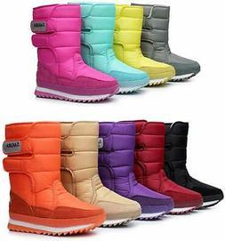 DADAWEN Women's Waterproof Frosty Snow Boot