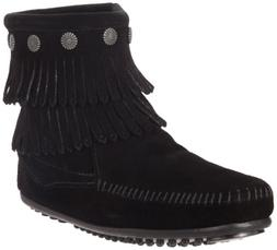 Minnetonka Women's Double Fringe Side Zip Boot