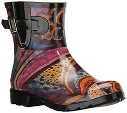 Nomad Women's Droplet Rain Boot, Turquoise Monet, 8 M US