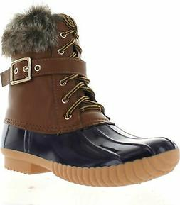 Nature Breeze Duck-01 Women's Chic Lace Up Buckled Duck Wate