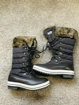 Polar Edge Women's Duck Boots Snow Waterproof  Ultra Insul