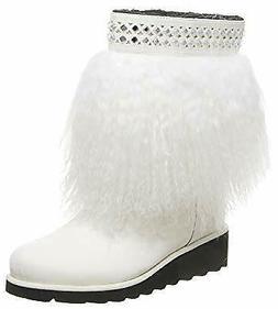 Bearpaw Elise Women's 9 Inch Boot White Furrry Winter Snow B