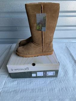 Bearpaw Elle Knee Tall Suede Snow Boots Hickory II Brown Wom