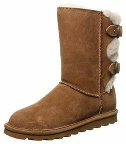 BEARPAW Eloise Women's Hickory Brown Suede Neverwet Fur Line