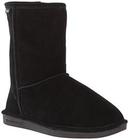 BEARPAW Women's Eva Short Snow Boot,Black,9 M US