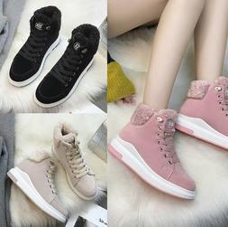 Fashion Students Snow Boots Warm Plush Cotton Shoes Womens P