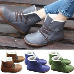 Fashion Women's Sneaker Boots Winter High Top Combat Warm Sn