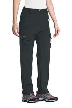 Clothin Women's Fleece-Lined Soft-Shell Cargo Pants - Water-