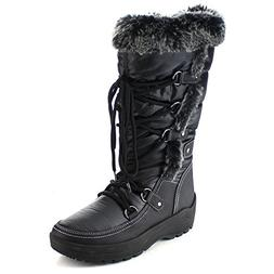 Nature Breeze FROST-01 Women's Stitching Lace Up Mid-Calf Sn