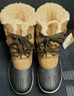 Pawz Ginnie Snow Boots Women Size 10 M Brown Fully Lined Lac
