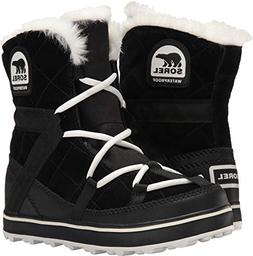 SOREL Women's Glacy Explorer Shortie Snow Boot, Black, 7.5 M