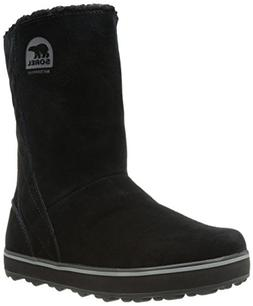 Sorel Women's Glacy Snow Boot, Black, 7.5 M US