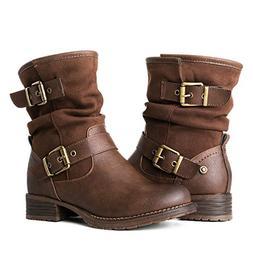 Globalwin Women's 17YY12 Brwon Fashion Boots 8.5M