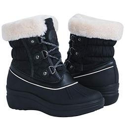 Globalwin Women's 1823 Black Wedge Snow Boots 8.5M