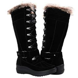 Globalwin Women's 1827 Black Fashion Snow Boots 6M