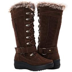 Globalwin Women's 1827 Brown Fashion Snow Boots 8.5M
